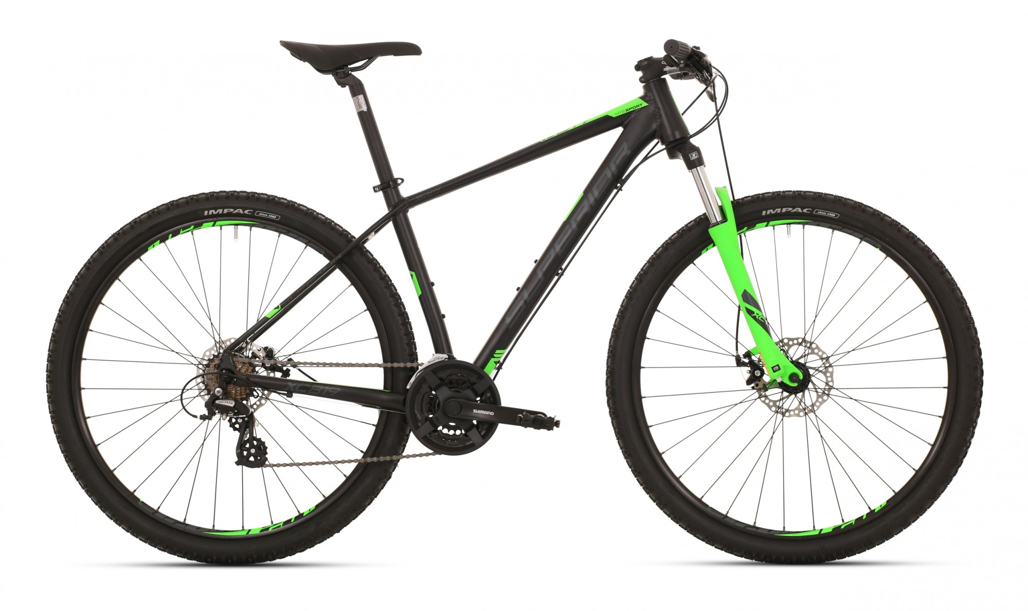 Superior XC 819 ALU Matte Black Neon Green 3x7