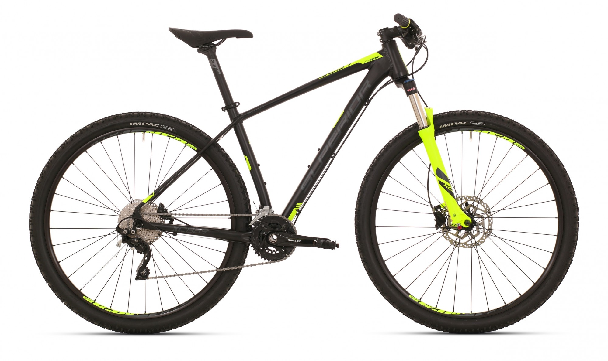 Superior XC 889 ALU Matte Black Neon Yellow 2x10