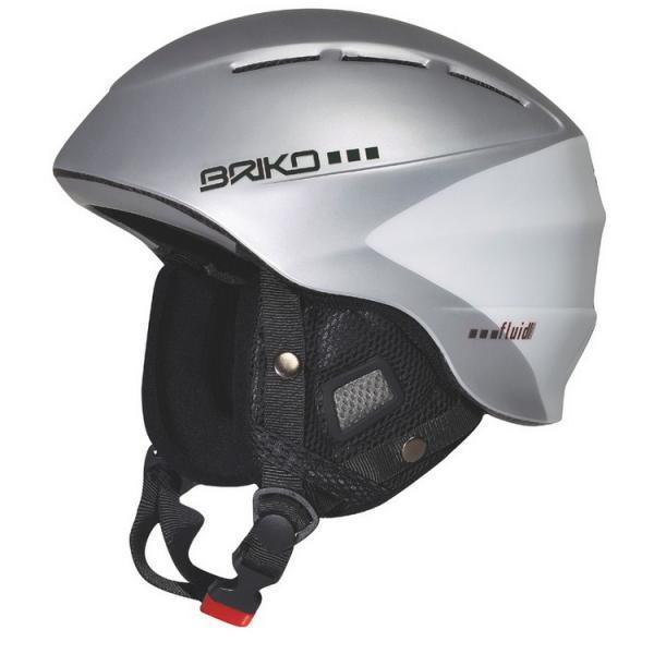 Briko Helmet Downhill Ski Snowboard Unisex Fluid EVO Gray Matte Silver 100362 54
