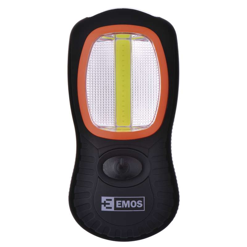 EMOS Rankinis žibintuvėlis 3 W COB LED + 3× LED 5 mm