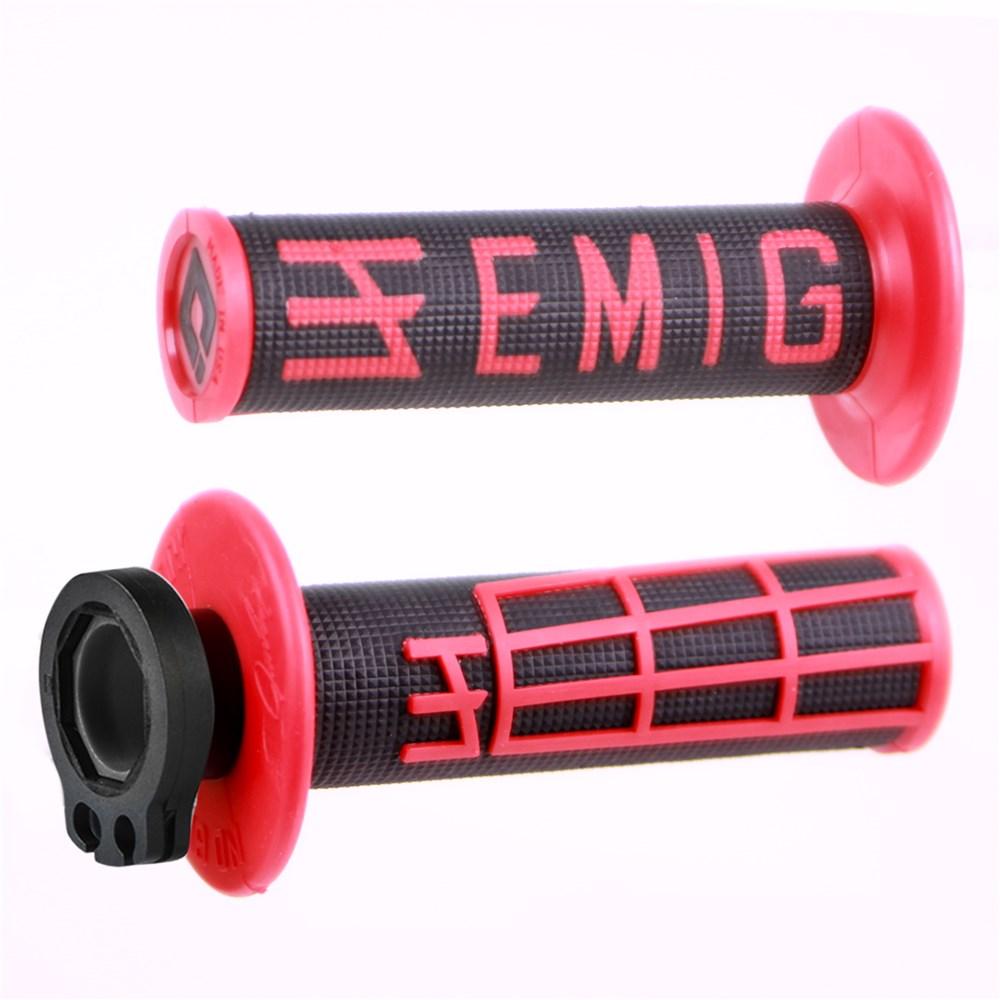 ODI MX LOCK ON V2 EMIG BRIGHT RED-BLACK GRIP 4 STROKE H34EMBR