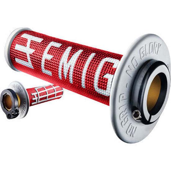 Odi Mx Lock On V2 Emig Red White 4 Stroke Throttle Tube & Grips H34EMRW