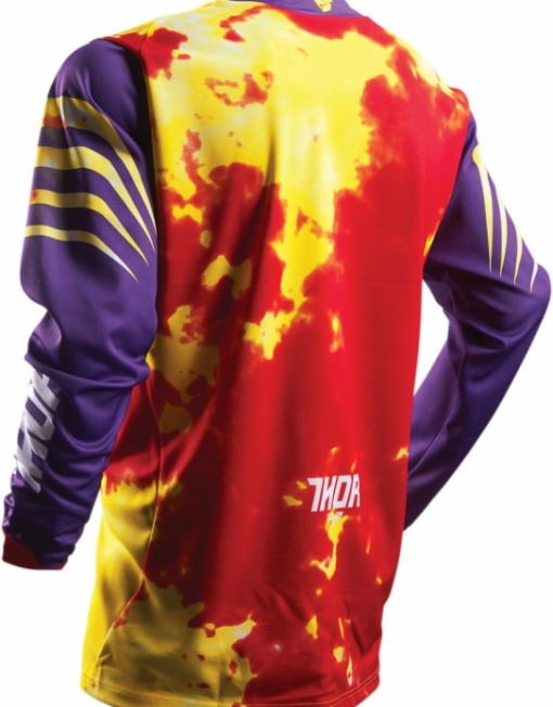THOR YOUTH PULSE TYDY PURPLEFIRE JERSEY 1