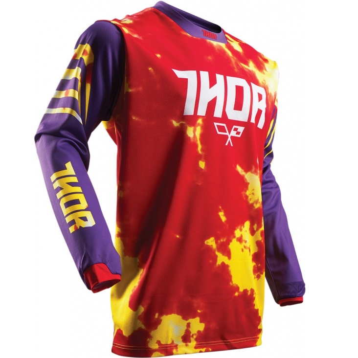 THOR YOUTH PULSE TYDY PURPLEFIRE JERSEY