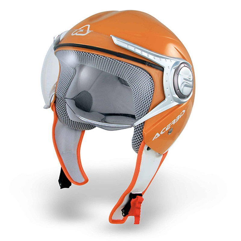 Acerbis Jet Orange Nano Visor motociklų šalmas
