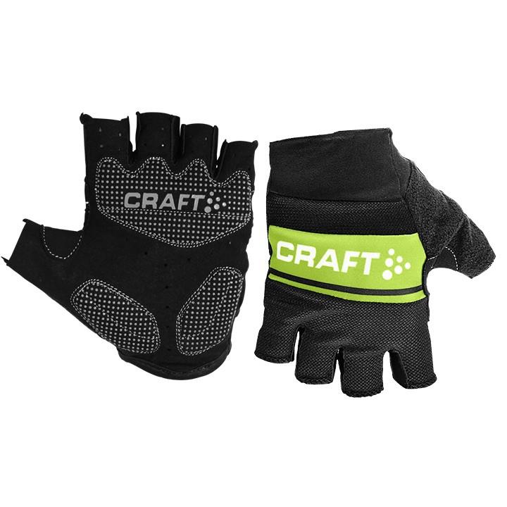 Craft Classic Black Green dviratininkų pirštinės 1903304-9810