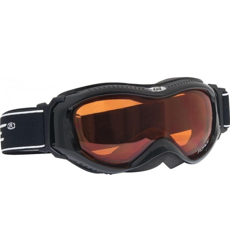 FORCE Snow Black Orange slidinėjimo akiniai 90993