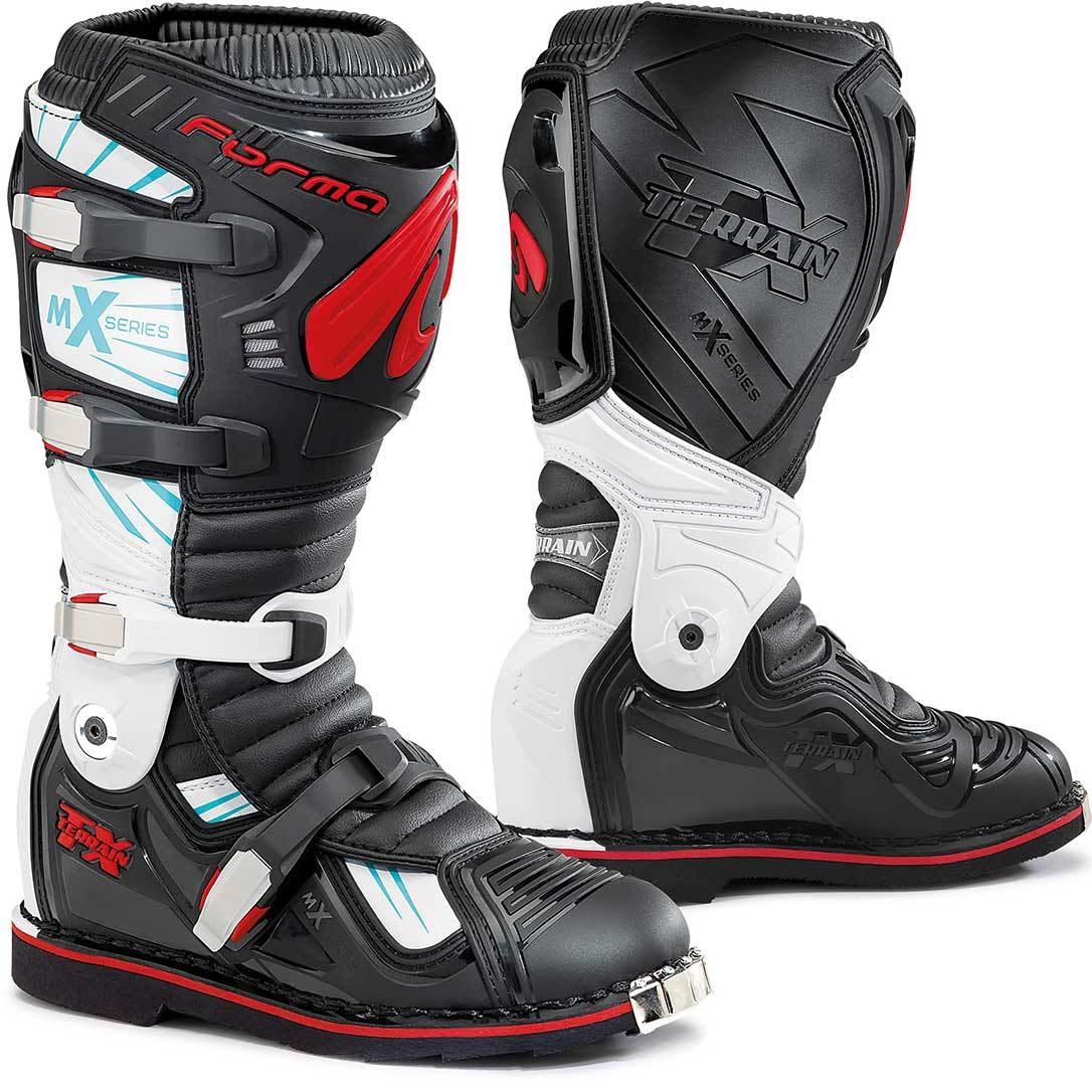 Forma Terrain TX Cross Boot Motorcycle MX Boots Black White Red