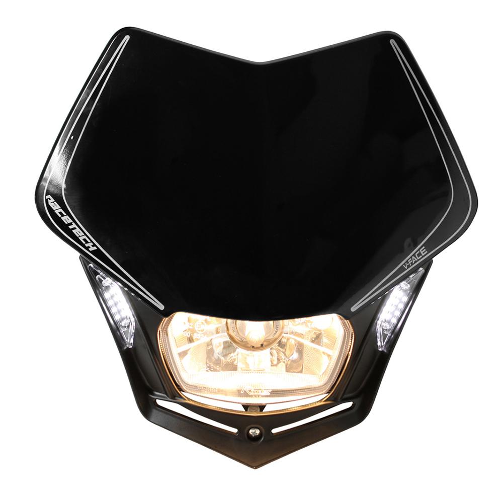 Rtech Black V-Face priekinis žibintas su LED R-MASKNR00009