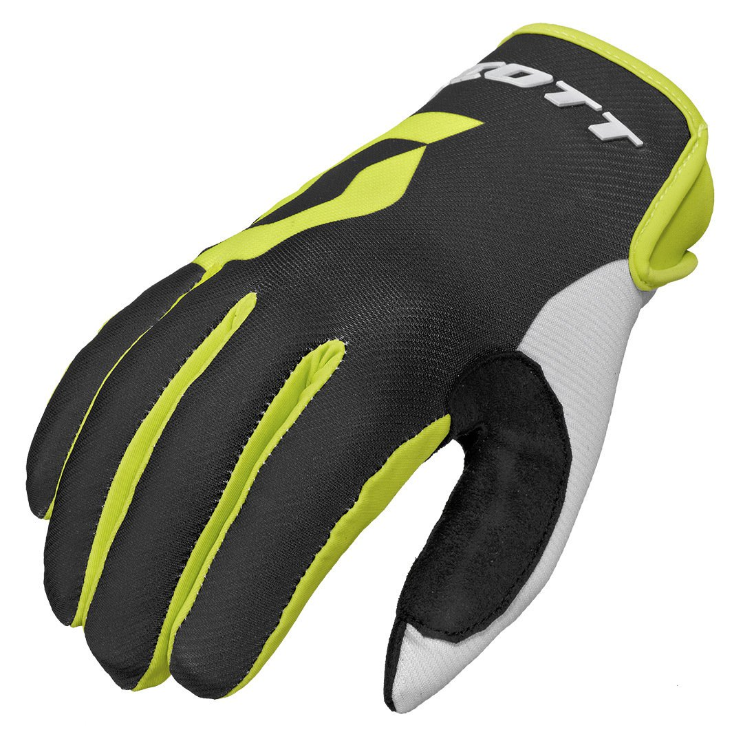 Scott 350 Track Gloves Black Yellow Offroad
