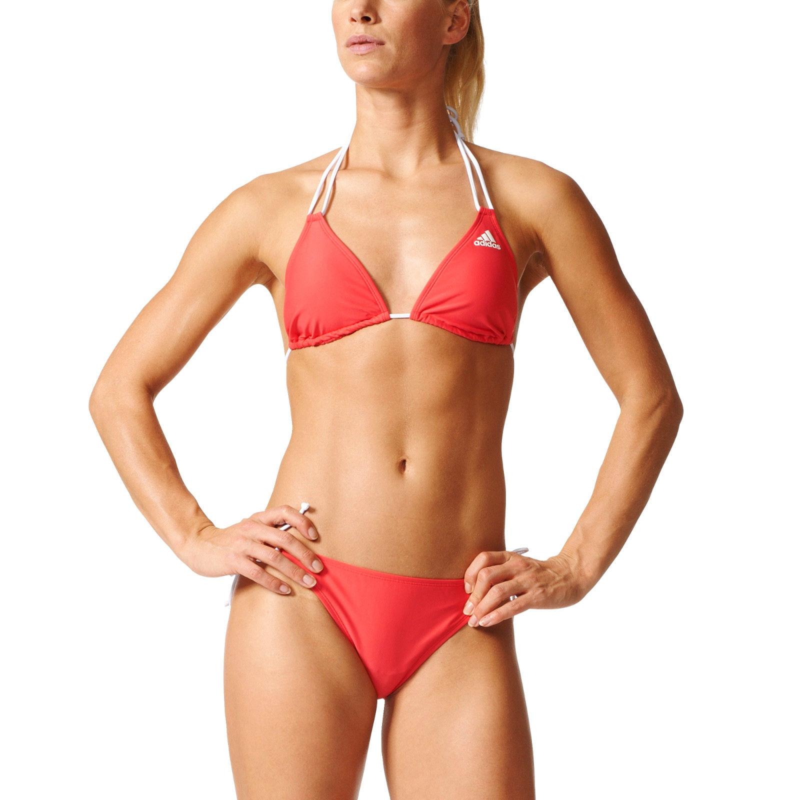 Adidas Women Bikini Swimming Solid Triangle Pink Beach BJ9861 Summer 2017 New