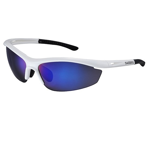 Shimano S20R cycling glasses white black