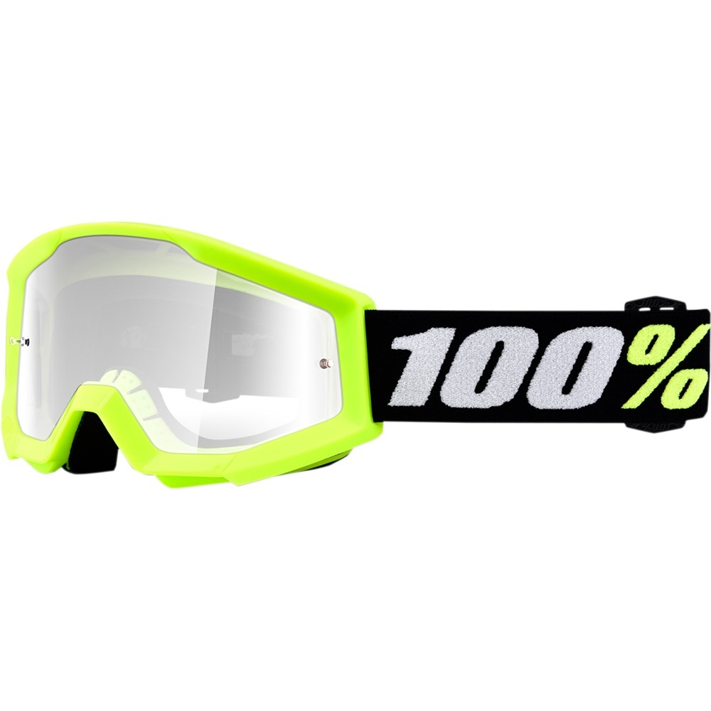 100 2019 KIDS MINI STRATA GOGGLE - YELLOW CLEAR LENS