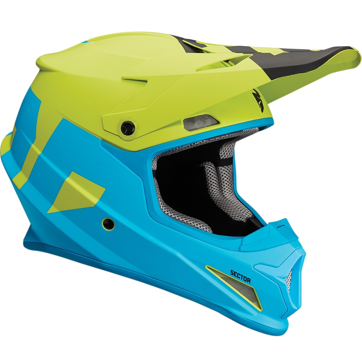 Thor Sector Level Helmet Blue Lime Lg 0110-5145
