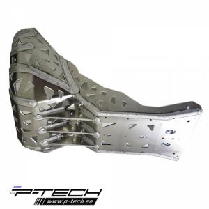 P-TECH KTM EXC / XC ir Husqvarna TE 2017 – 2019 šoninė plokštė su išmetimo apsauga PK005