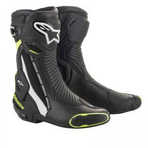 Alpinestars Boots SMX Plus v2 Black/Yellow fluo motociklininkų batai 695-2221019-125