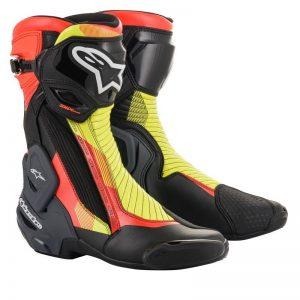 Alpinestars Boot SMX Plus v2 Black/Redfluo/Yellow motociklininkų batai 695-2221019-1351