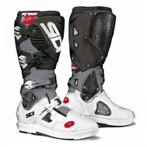 SIDI Crossfire 3 SRS MX Boot White/Grey/Black motociklininkų batai 655-2106