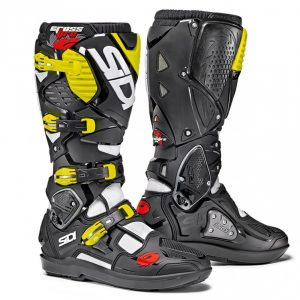 Sidi Crossfire 3 SRS MX boot white/black/fluor yellow motociklininkų batai 655-1702